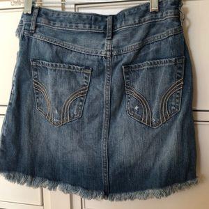 Hollister Skirts - hollister ripped denim skirt